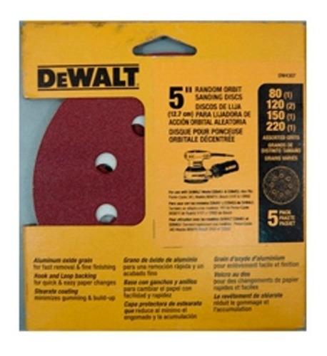 disco de lija 5 pulg granos surtido para madera dewalt dw430