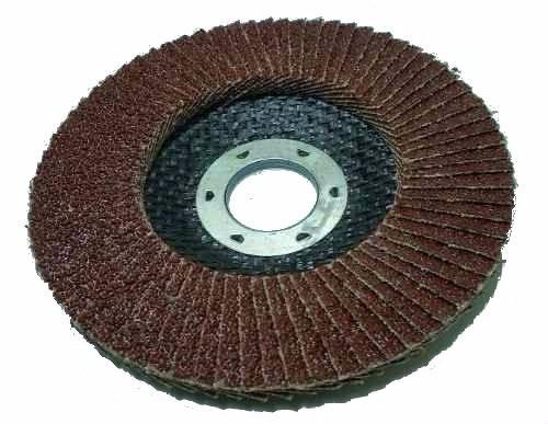 disco de lixa flap 4.1/2 grão 120 mtx p/ lixadeira c/ 25 pçs