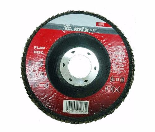disco de lixa flap 4.1/2 grão 40 mtx p/ lixadeira c/ 100 pçs