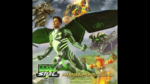 disco de max steel la alianza monstruosa y hot wheels