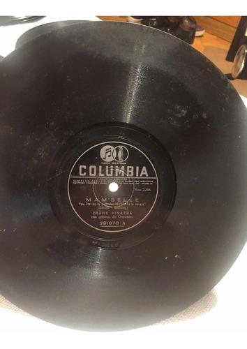 disco de pasta frank sinatra columbia 291870 fox trot 78 rpm