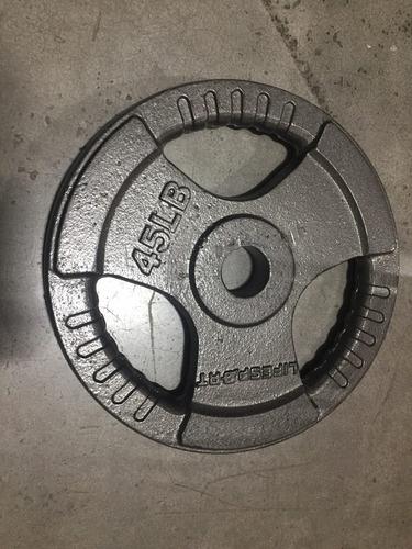 disco de pesa de 45 libras olímpico unidad