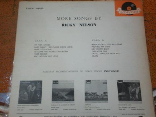 disco de ricky nelson (años 60) polydor records