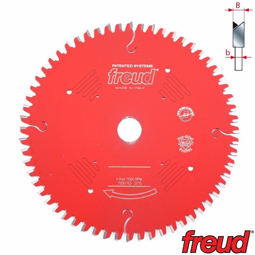 disco de serra 250mm 80d freud lp67m-002 mdf revestido 2f