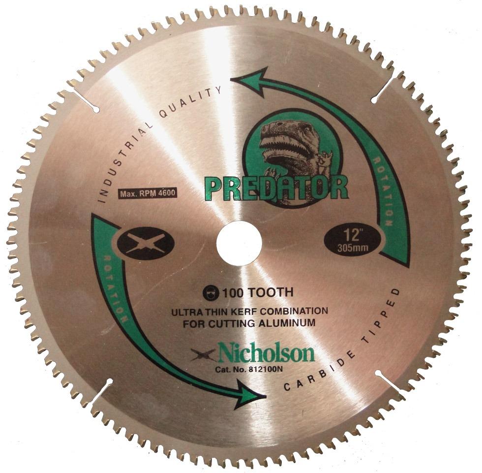 Disco de serra 305mm 100 dentes corta aluminio nicholson - Disco corte aluminio ...