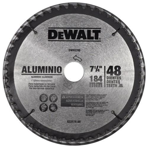 disco de serra circular 185 x 25 p/ alumínio/madeira dewalt