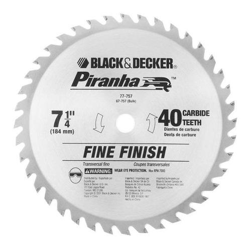 disco de sierra circular black and decker 77-757ps 7 1/4