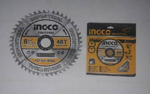 disco de sierra tct 8-1/4  marca ingco.
