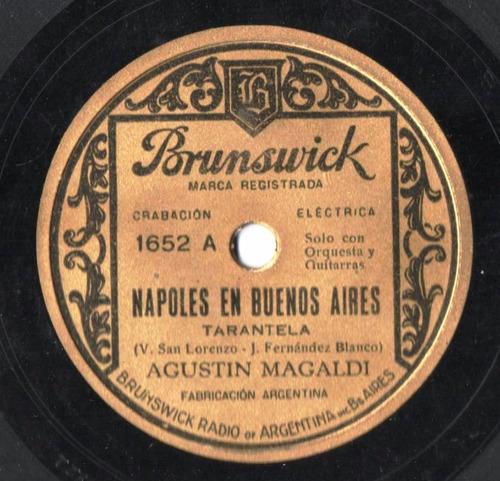 disco de tango pasta 78 rpm agustín magaldi - magaldi - noda