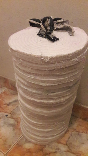 disco de trapo tela blanco 8pulgadas x25 unidades