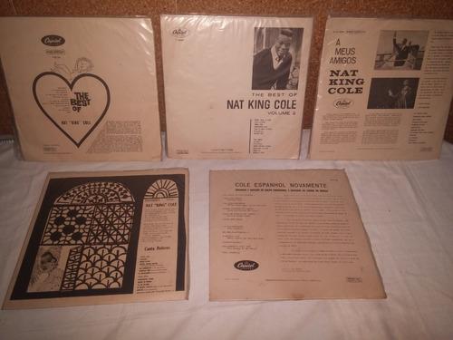 disco de vinil lote com 5 unidades nat king cole