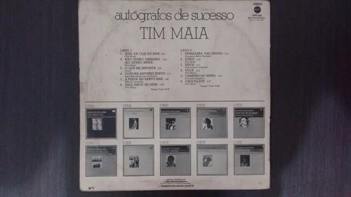 disco de vinil - tim maia - autógrafos de sucesso