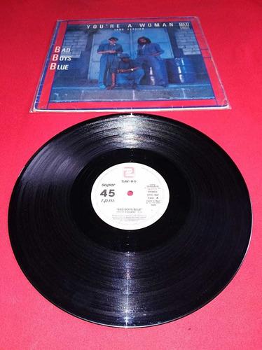 disco de vinilo bad boys blue, maxi single,europeo
