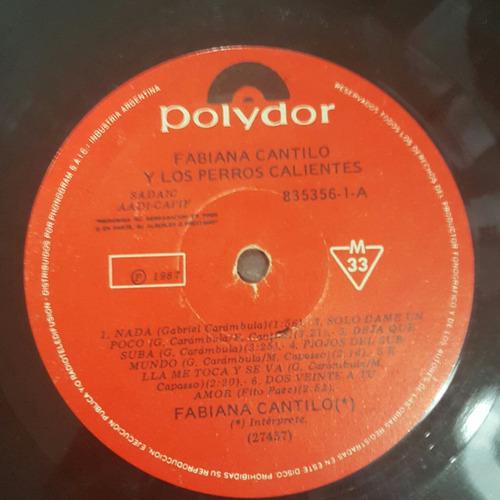 disco de vinilo fabiana cantilo y los perros calientes 8 pts