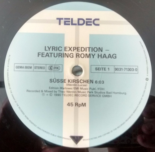 disco de vinilo-lyric expedition - susse kirshen -rommy haag