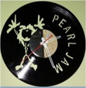 disco de vinilo pearl jam arte decoracion