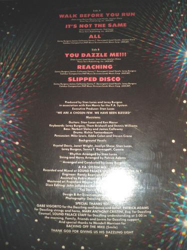 disco de vinyl 12'' importado de dazzle - dazzle (eeuu 1979)