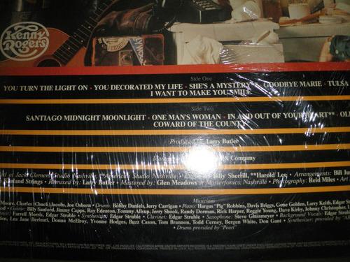 disco de vinyl 12'' importado de kenny rogers - kenny (1980)