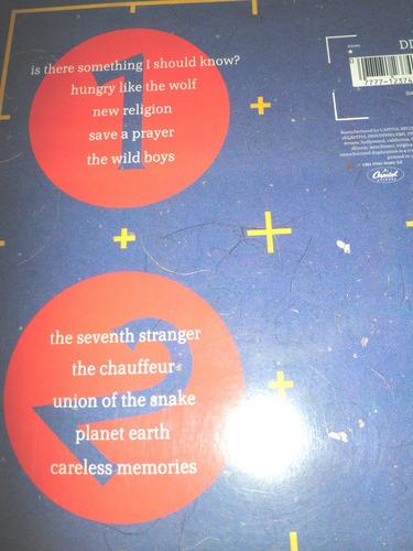 disco de vinyl importado en vivo duran duran - arena (1984)