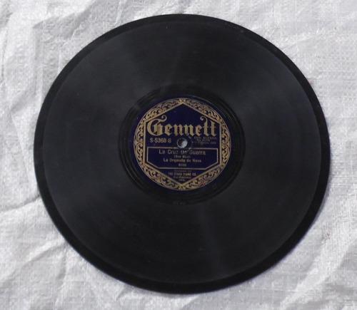 disco de vitrola la cruz de guerra / martínez