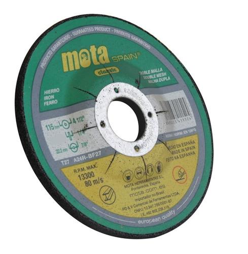 disco desbaste para metales 115 x 4,8 mm para amoladora mota