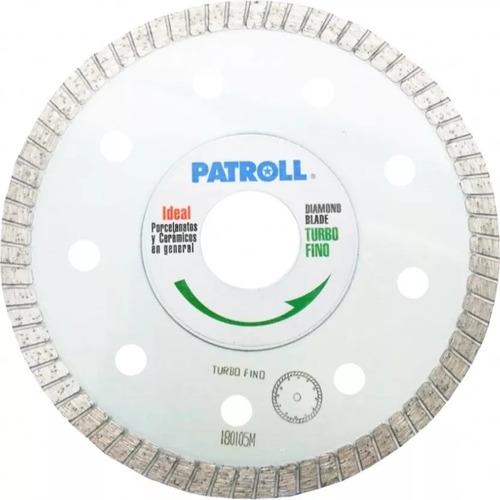 disco diamant aliafor patroll turbo fino ptf  7 pulg 180 mm