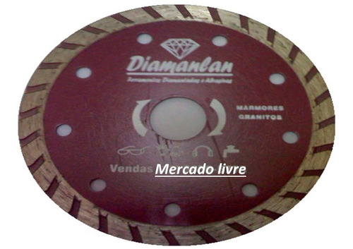 disco diamantado ø110 turbo corte mármore granito seco úmido