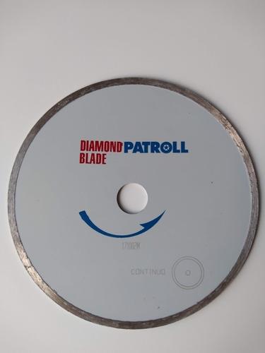 disco diamantado 180 mm continuo patroll porcelanato