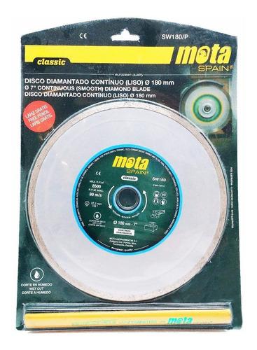 disco diamantado 180mm continuo mota sw180 7  para marmol