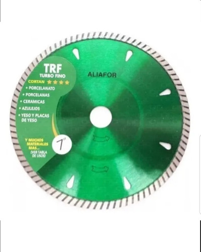 disco diamantado 7pulg  turbo fino aliafor trf porcelanato