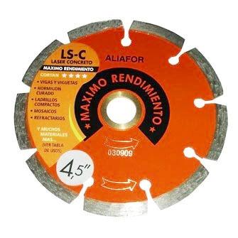 disco diamantado aliafor laser concreto ls 4.5 c 115mm 4,5''