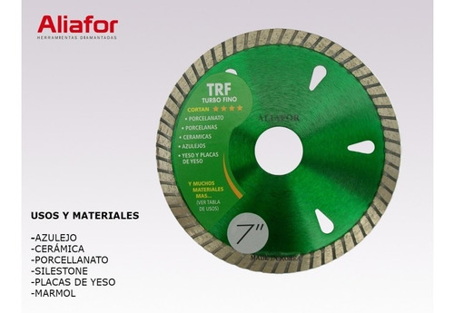disco diamantado aliafor turbo fino trf 115 mm porcelanato