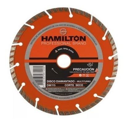 disco diamantado multiturbo corte seco hamilton 115mm 4 1/2