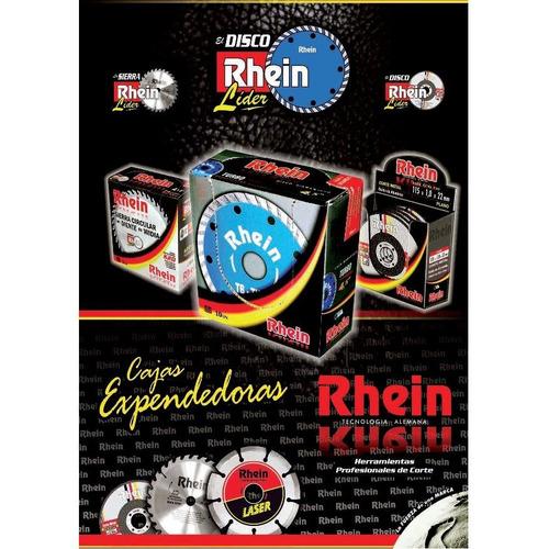 disco diamantado rhein  4.1/2 turbo