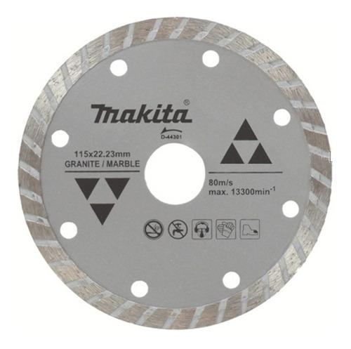 disco diamantado turbo 4-1/2 p/marmol makita d-44301