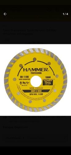 disco diamantado turbo hammer 110x20mm 4 polegadas