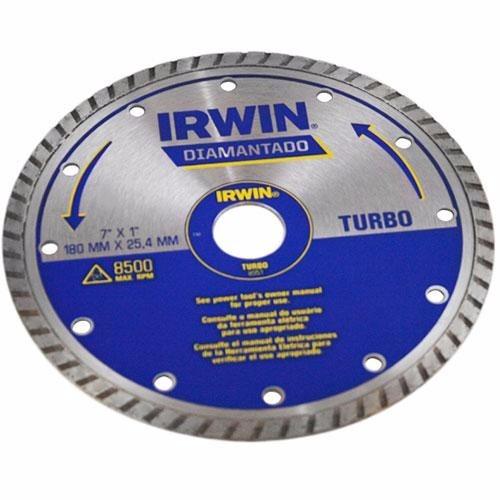 disco diamantado turbo para cortes irwin
