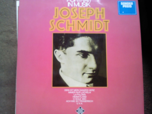 disco doble de acetato de portrait in musik joseph schmidt