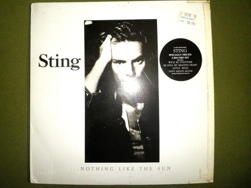 disco doble vinyl imprtd sting - nothing like the sun (1987)