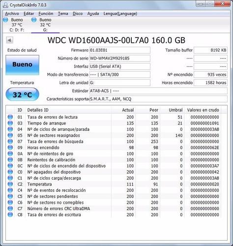 disco duro 160