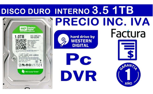 disco duro 1tb 1 tera interno pc western digital 3.5 inc iva