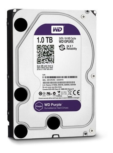 disco duro 1tb wd purple cctv 24/7 5400rpm