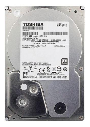 disco duro 2 tb sata toshiba 7200 rpm  3.5 pulgadas