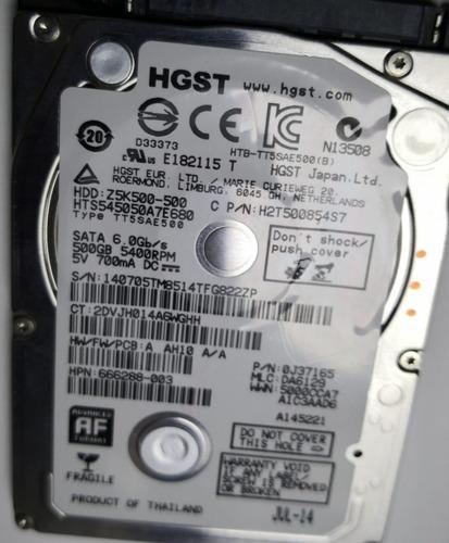 disco duro 2.5 sata 500gb hgst z5k500-500