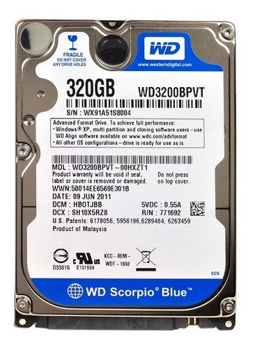 disco duro 2.5  wd blue 320gb 5400 rpm