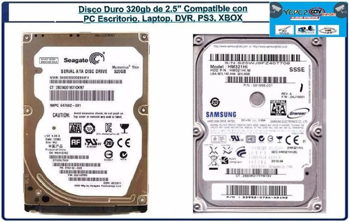 disco duro 320gb 2.5 sata pc laptop ps3 xbox dvr nuevo ofert