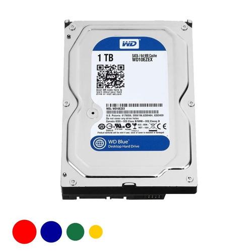 disco duro 3.5 sata 3 -  1tb wd blue 7200 rpm *2 años gtía*