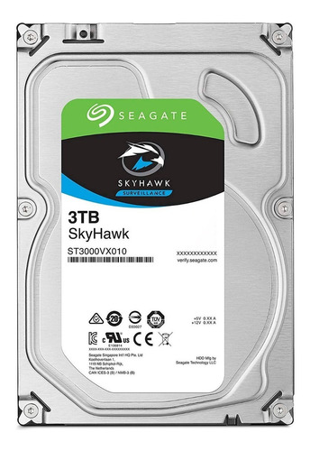 disco duro 3tb seagate skyhawk st3000vx010 videovigilancia