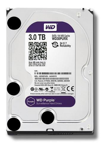 disco duro  3tb wester digital purple ref: wd30purx