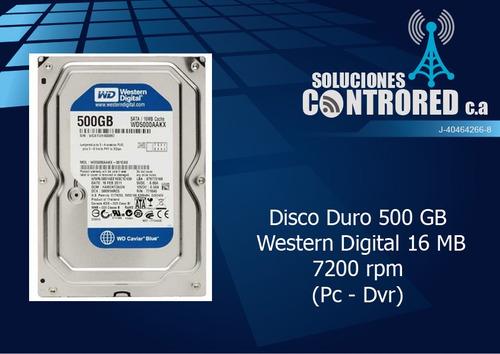 disco duro 500 gb  western digital 16 mb 7200 rpm (pc - dvr)